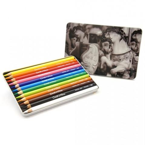 Lápis Pastel Conté C/12 cores