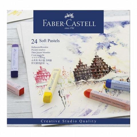 Giz Pastel Faber Castell 24 cores
